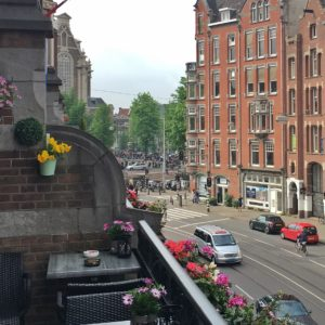 My hotel was about 3 blocks or so from the Anne Frank House. I could see the line from the balcony...very long.